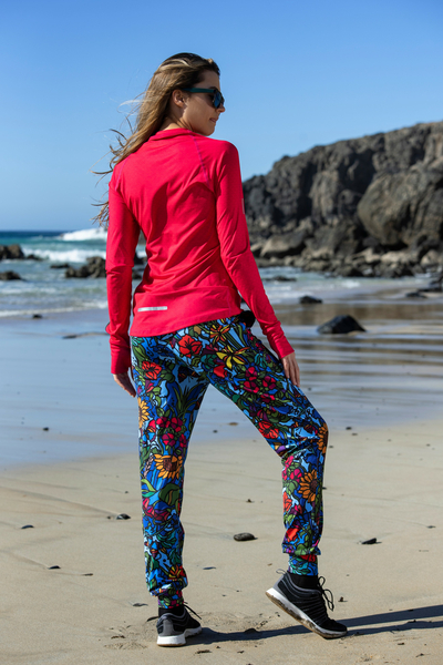 Light Sweatpants Black Mosaic Flora - SDDC-11M4
