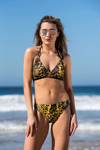 Bikini briefs Yellow Panther - SJ2F-11K7