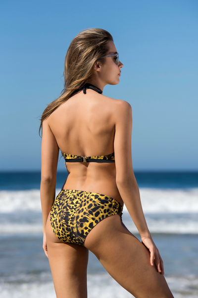Swimsuit Yellow Panther - SJ2F-11K7