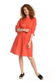 Summer Linen Dress Chica Red - ILS-20 - packshot