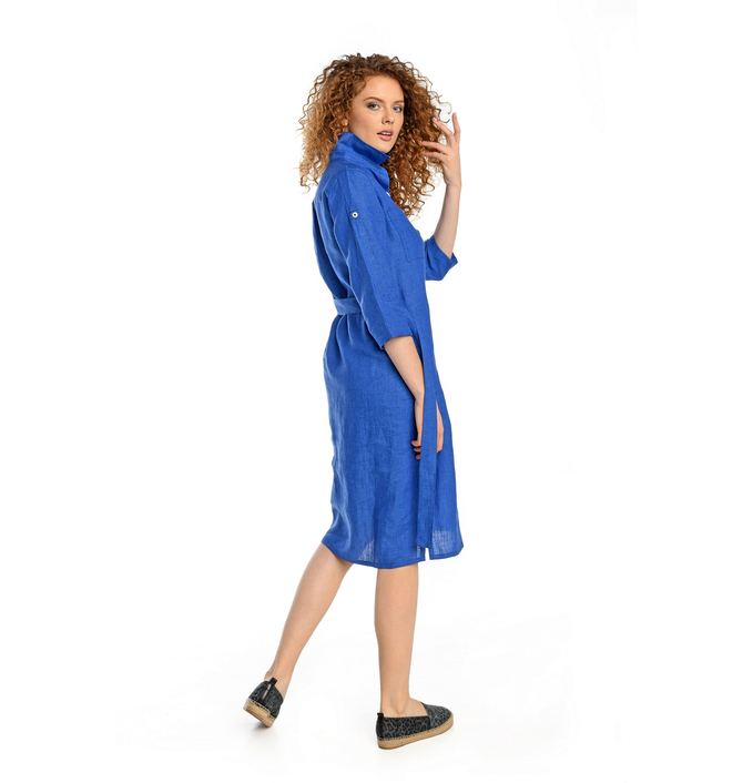 Summer Linen Dress Duna Blue - ILD-50 - packshot