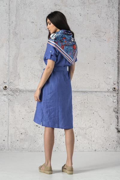 Summer Linen Dress Duna Blue - ILD-50