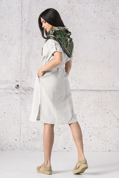Summer Linen Dress Duna Grey - ILD-80
