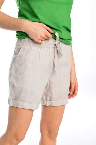 Linen Shorts Bajo Grey - ILB-80