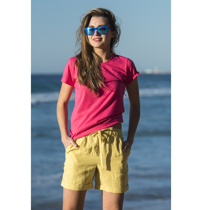 Linen Shorts Bajo Yellow - ILB-10 - packshot