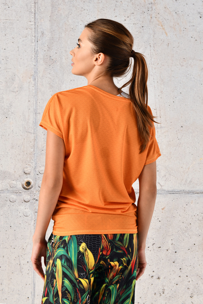 Bat Sleeve T-shirt Orange Mirage - OTD-11X3