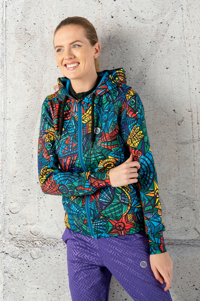 Hooded Bomber Jacket Mosaic Lumo - NVK-12M4