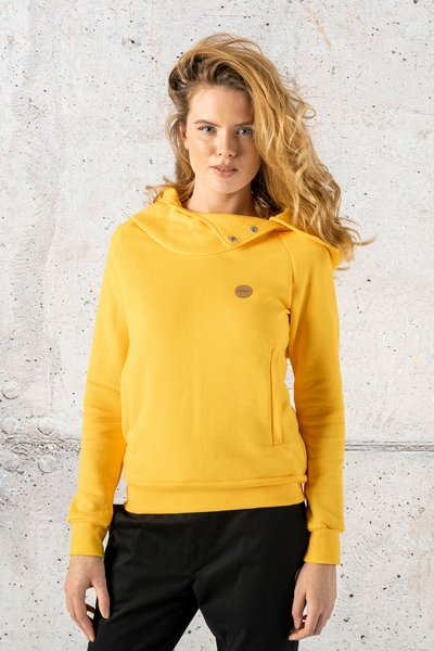 Sweatshirt With Hood Kayo Yellow - OKYD-10