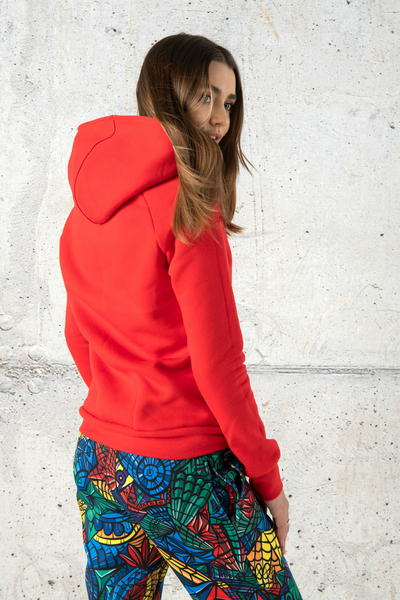 Sweatshirt With Hood Kayo Red - OKYD-20