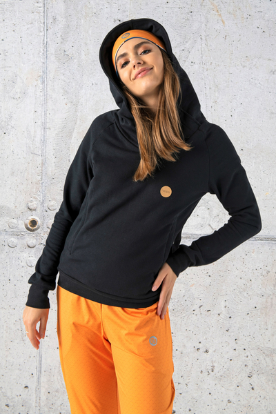 Sweatshirt With Hood Kayo Black - OKYD-90
