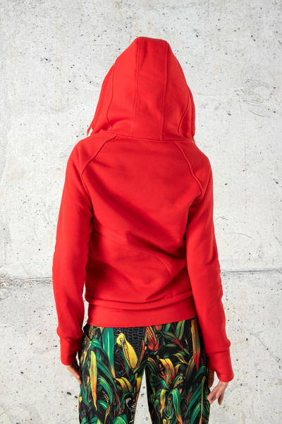 Sweatshirt With Hood Bioko Red - ORBD-20