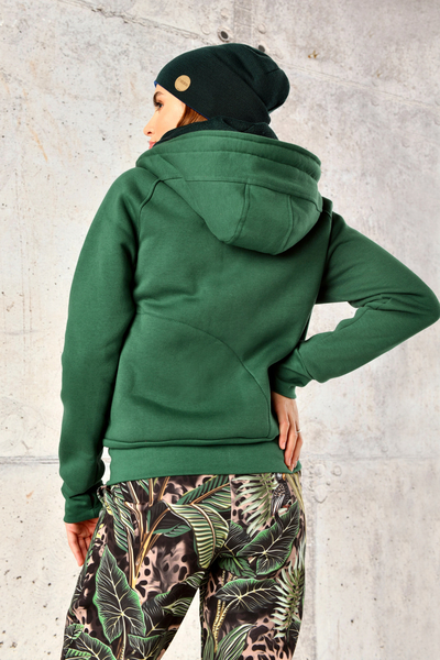 Sweatshirt With Hood Bioko Green - ORBD-40