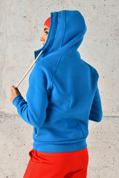 Sweatshirt With Hood Bioko Blue - ORBD-50