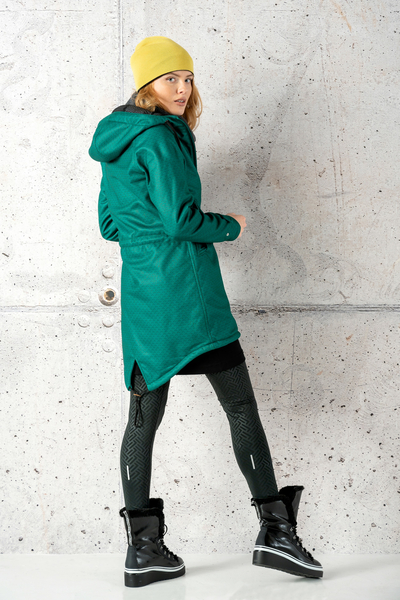 Hooded Parka Jacket Green Mirage - PRSL-11X5