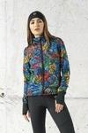 Ladies zipped hoodie Mosaic Lumo - HRDK-12M4