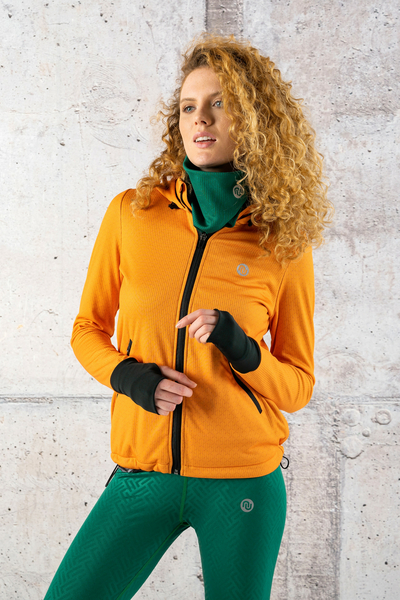 Ladies zipped hoodie Orange Mirage - HRDK-11X3