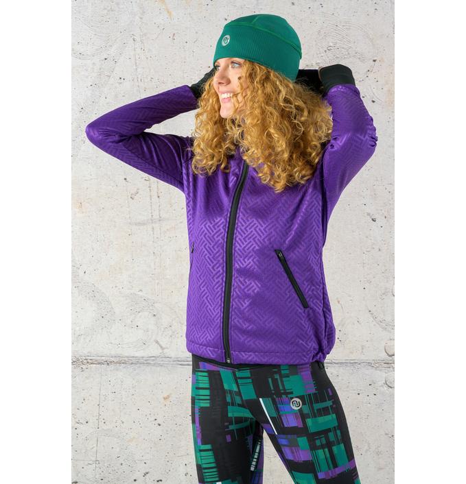 Ladies zipped hoodie Shiny 2 Purple - HRDK-1260T - packshot