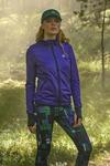 Ladies zipped hoodie Shiny 2 Purple - HRDK-1260T