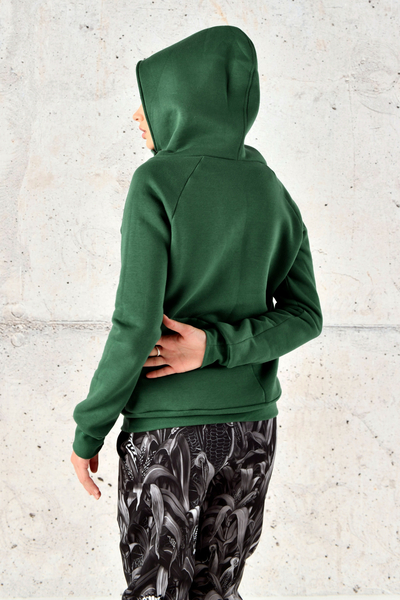 Sweatshirt With Hood Kayo Green - OKYD-40