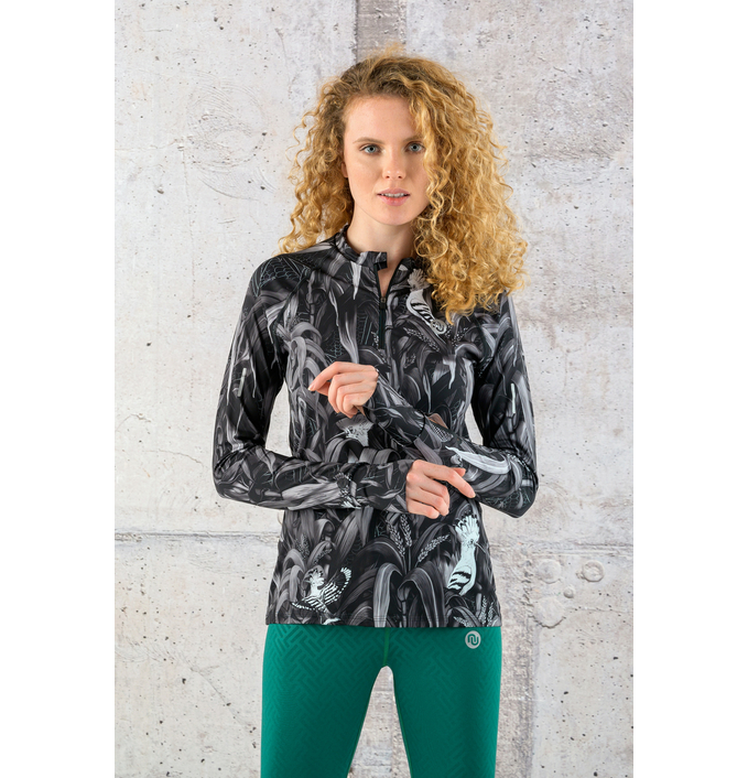 Training sweatshirt Zip Black Corn - LBKZ-12C9 - packshot