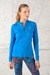 Training Sweatshirt Zip Blue Mirage - FLBKZ-11X7