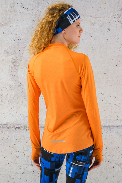 Training sweatshirt Zip Orange Mirage - LBKZ-11X3