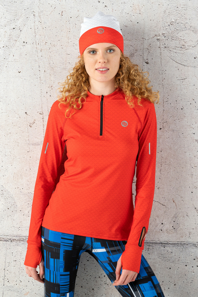 Training sweatshirt Zip Red Mirage - LBKZ-11X4