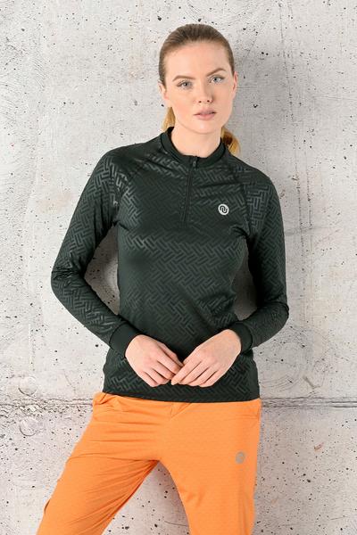 Training sweatshirt Zip Shiny 2 Black - FLBKZ-90T