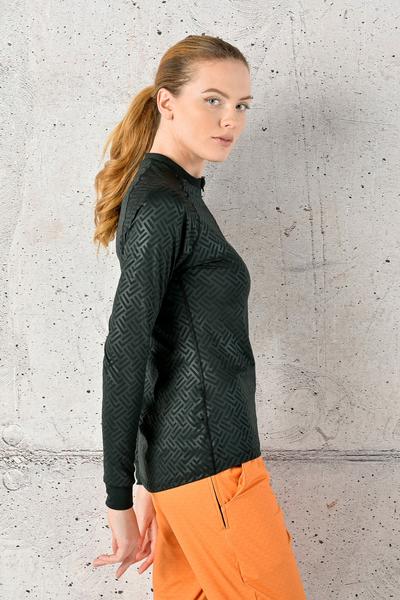Training sweatshirt Zip Shiny 2 Black - FLBKZ-1290T