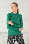 Training Sweatshirt Zip Shiny 2 Green - FLBKZ-1250T