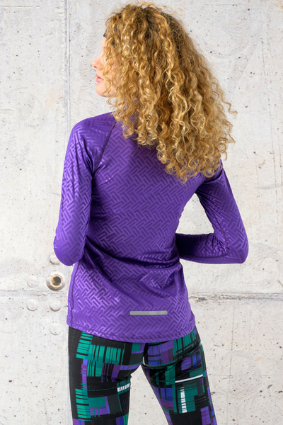 Training sweatshirt Zip Shiny 2 Purple - LBKZ-1260T