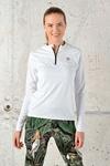Training Sweatshirt Zip White Mirage - FLBKZ-11X0