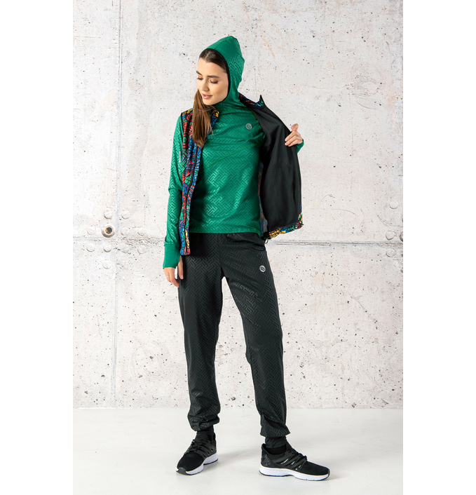 Training sweatshirt with a hood Shiny 2 Green - LBK-1250T - packshot