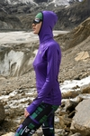 Training sweatshirt with a hood Shiny 2 Purple - LBK-1260T