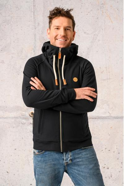 Sweatshirt With Hood Yoko Black - ORYM-90