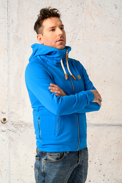 Sweatshirt With Hood Yoko Blue - ORYM-50