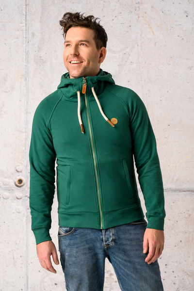 Sweatshirt With Hood Yoko Green - ORYM-40