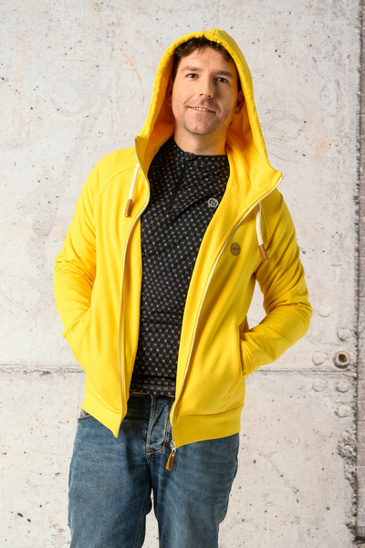 Sweatshirt With Hood Yoko Yellow - ORYM-10