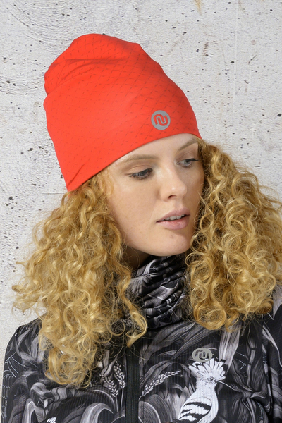 Hat double-sided White Mirage - Red Mirage - ACI-28
