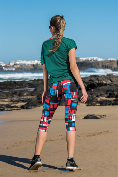 Colorful 3/4 Leggings Krado II Quality - OSTZ-11S1-G2