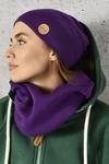 Merino tube scarf Purple - ISE-60