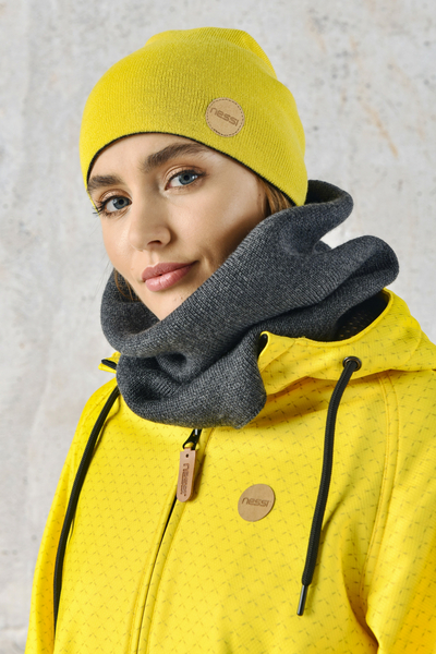 Merino Snood Grey - ISE-80