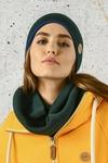 Merino tube scarf Green - ISE-40