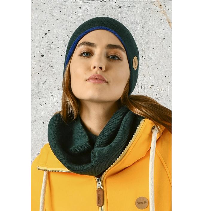 Merino tube scarf Green - ISE-40 - packshot