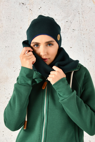 Merino Snood Green - ISE-40