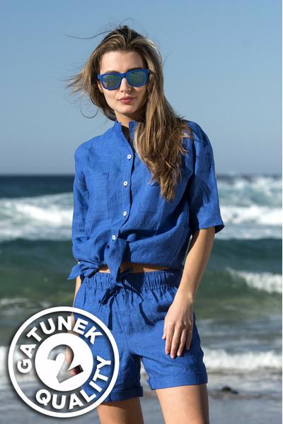 Linen Shirt Melia Blue II Quality - ILK-50-G2