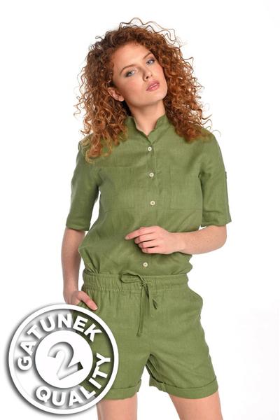 Linen Shirt Melia Green II Quality - ILK-40-G2