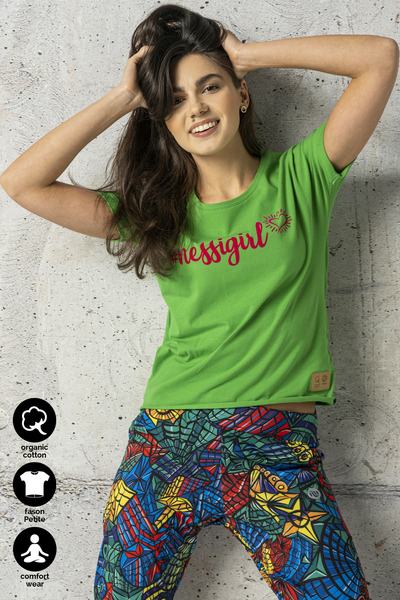 Ecocotton Loose Green Petite T-shirt - IYB-40NG
