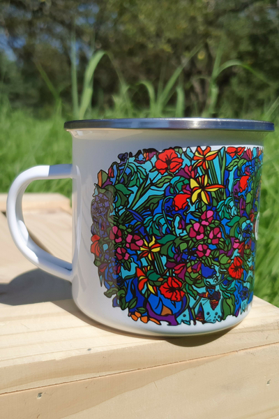 Cup Mug Mosaic Flora - KEL-11M4