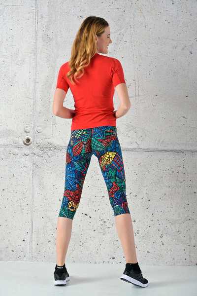 Fitness Leggings 3/4 Mosaic Lumo - OSTF-12M4